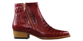 Red Baby Croco Boot